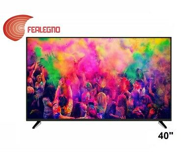 "Televisore Tv Led 40"" Pollici Usb Full Hd Dvb-T2 Sat-S2 Bolva Led-4066 Nero"