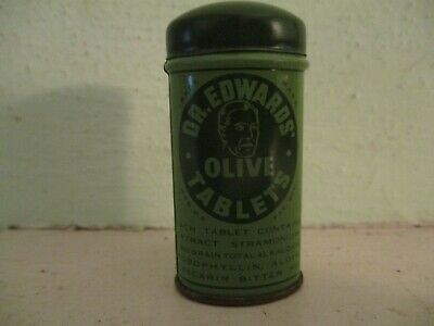Dr. Edwards Olive Tablets - vintage laxative tin The Olive Tablet Company