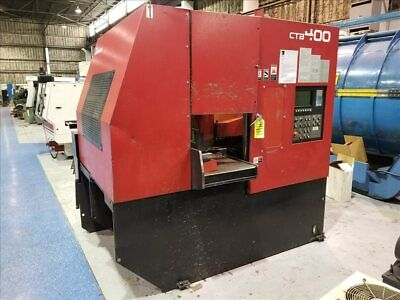 Amada Ctb400 Cnc Carbide Blade Vertical Band Saw W/ Conveyor B39481
