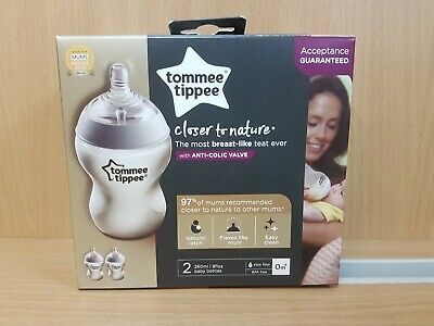 Tommee Tippee Closer to Nature 2 x 260 ml bottles   RO 112726