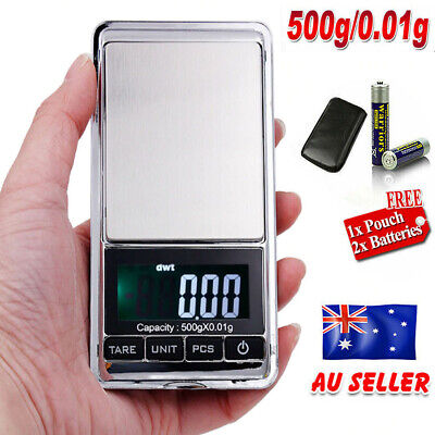 Mini Digital Pocket Scale 0.01g 500g LCD Jewelry Scales Jewellery Weight Balance