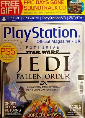 Play Station Official Magazine July 2019 # 163=Exclusive Star Wars Jedi=Free Cd