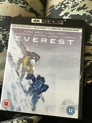 Everest 4k UltraHD Blu-ray UHD plus Ultraviolet Digital download code