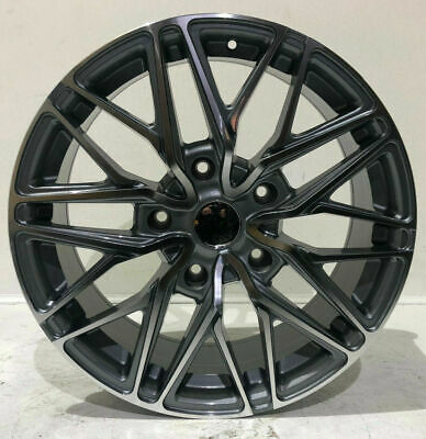"""20"""" Gloss Black Mesh 1100Kg Load Rated* Alloy Wheels & Tyres Ford Transit Custom"""