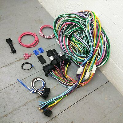 1964 - 1967 chevrolet chevelle wire harness upgrade kit fits painless fuse  block