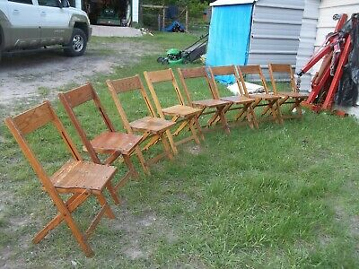 Vintage Wooden Folding Chairs Palmer Synder 8 available