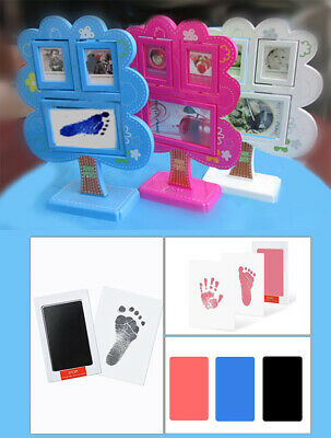 Baby Hand and Foot Print Kit + Tree Photo Frame Newborn Unique Keepsake Gifts