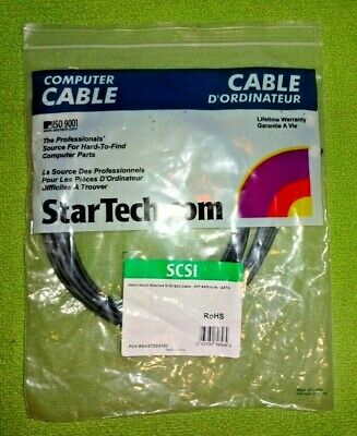 StarTech SAS70S4100 100cm Serial Att SCSI SAS Cable - SFF-8470 to 4x eSATA NEW