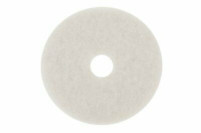 "3M Super Polish Floor Pad 4100, 17"", White - Includes five pads."