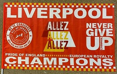 Liverpool Champions League 2019 Winners Flag