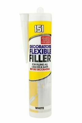 Decorators Caulk White 1 Hour Fast Acrylic Sealant Flexible Gap Crack Filler