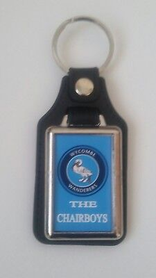 Wycombe Wanderers  leather fob keyring..  Ideal gift