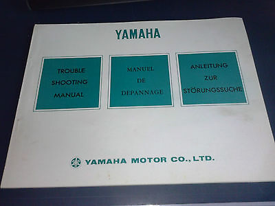 Revue Moto Technique Manuel Depannage Yamaha Trouble Shooting Manual