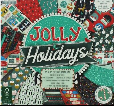 First Edition Christmas 2018 FSC Jolly Holidays Premium Paper Pad 6x6 48 Sheets