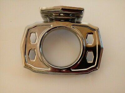 NOS Vintage Art Deco Chrome Toothbrush Cup Holder Wall Mount Made In USA