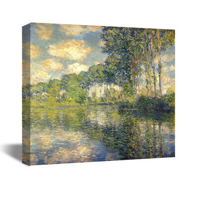 Claude Monet Poplars on the Epte HD Canvas Print Oil Painting Art Decor 22x22""