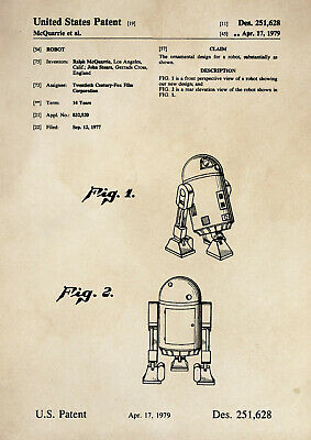Patent Print - Star Wars / R2D2 / Droid / Robot - Vintage Poster Wall Art A4