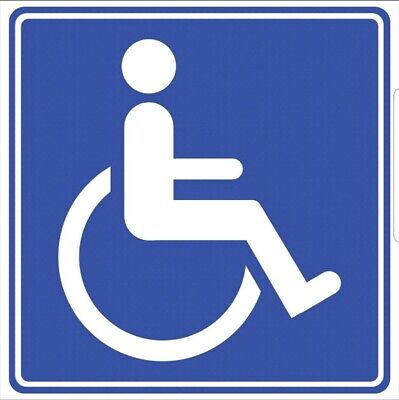 2x DISABILITY//MOBILITY BLUE BADGES Car//Van//Window//Bumper Printed Vinyl Stickers