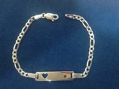 d1f2ac40ccf1c 18K GOLD FILLED Figaro Link Childrens ID Bracelet Free Personalized ...