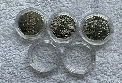 10 50p Shaped 50p Coin Capsules - Perfect Fit For A 50 Pence Coin