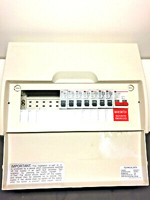 Lewden Consumer Unit 12 Way With 100A  Isolator + 7 mcb circuit breakers fusebox