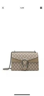8ba4469e51 100% Authentic New Gucci Dionysus Supreme Gg Beige Shoulder Bag/Handbag