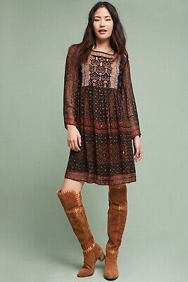 01dee6bc735 ANTHROPOLOGIE MUNRO EMBROIDERED Tunic Dress new size S - $128.00 ...
