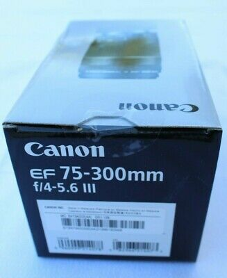 Original Canon EF 75-300mm f/4-5.6 III Zoom Lens, Brand new in the box