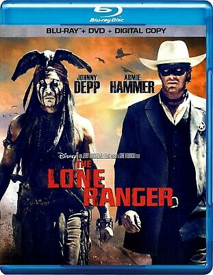 Disney's The Lone Ranger (Blu-ray/DVD, 2013, 2-Disc Set) *Brand New*
