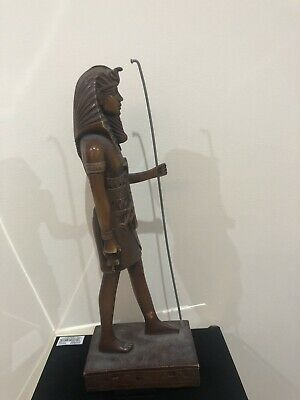 Unique Antique King   Ramses Ancient Egyptian God Statue Statuette