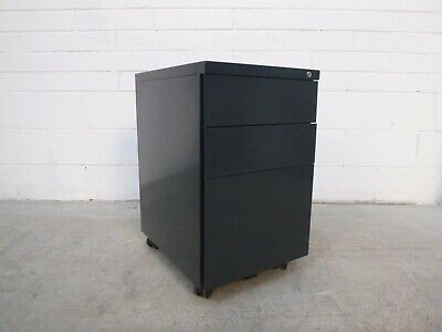Home/Office Mobile 3 Drawer Pedestal Charcoal Metal 39042