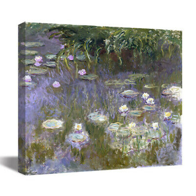 Water-Lilies Claude Monet HD Canvas Print Oil Painting Art Wall Decor 22x22""