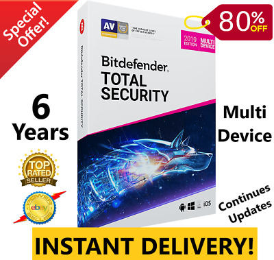 Bitdefender Total Security 2019 /2020 |6 YEARS | Download Link |INSTANT DELIVERY