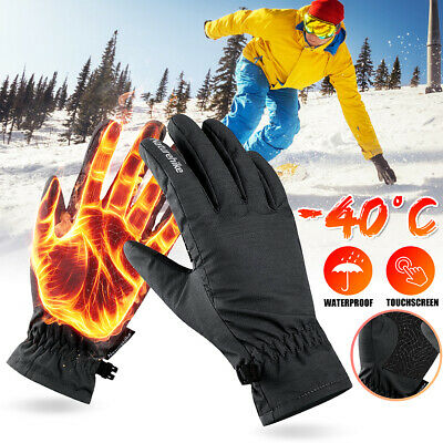 -40°Winter Warm Thermal Gloves Ski Snow Snowboard Cycling Touchscreen Waterproof