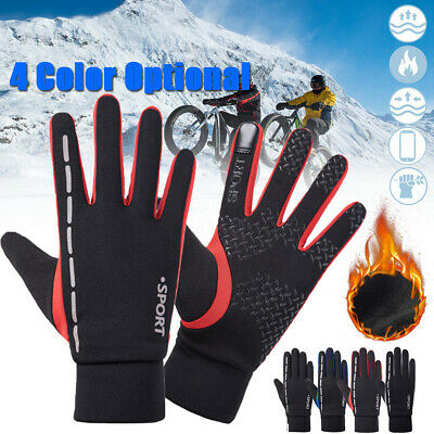 Mens Womens Reflective Gloves Touch Screen Thermal Warm Winter Sports Walking AU