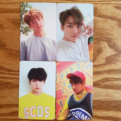 Jungkook Official Photocard 4 pcs Set BTS Love Yourself Her Genuine Kpop