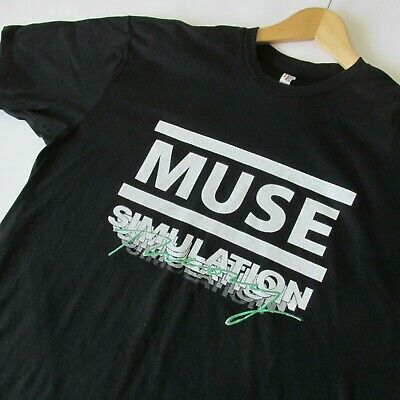 Muse Simulation Theory World Tour Men's Unisex T-Shirt Two Sided Print New XL