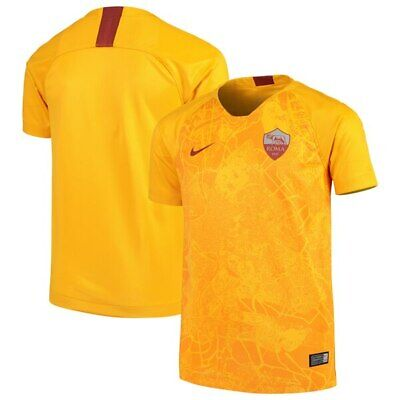 e5ea8fde0b4 AS Roma Away Stadium Jersey 2018/19 Gold 3rd Jersey Nike Youth Sz XL 919261