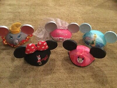 Lot of 5 disney parks Ear Hats Mickey Tink dumbo minnie mouse princess