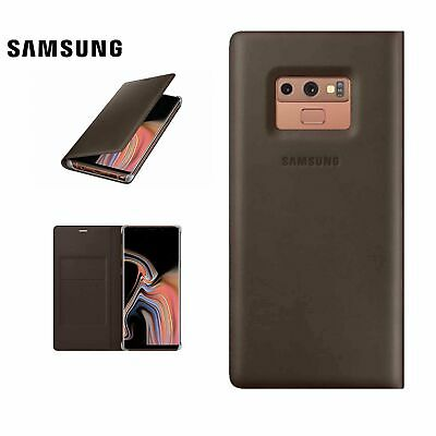 Official Samsung Galaxy Note 9 Premium Genuine Italian calf leather Wallet Case
