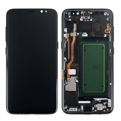 For Samsung Galaxy S7 edge S8 S8 Plus LCD Display Touch Screen Digitizer + Frame