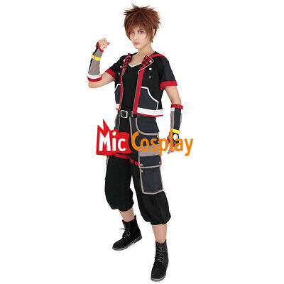 Halloween Looks For Men.Kingdom Hearts 3 Costume Sora Cosplay Men Outfit Shirt Game