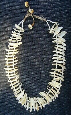 Antique 1930's New Guinea Tribal Shell Money Trade Bead Necklace
