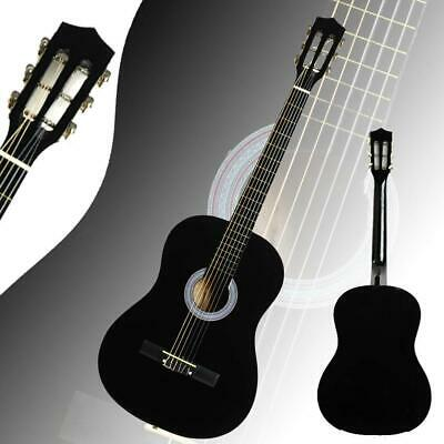 New 38inch Right Handed Practice Plywood Acoustic 6 Strings Guitar Black