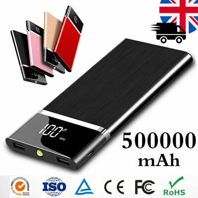 50000mAh External Power Bank Backup Portable LCD Battery Charger For Phone Gift