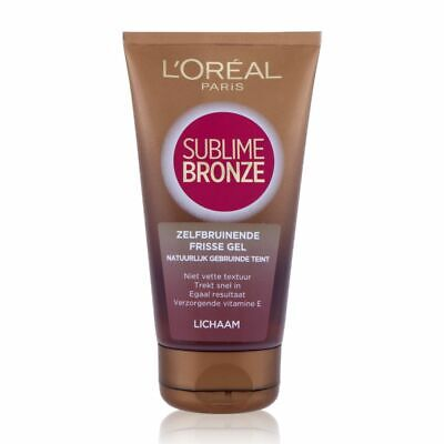 L 'oreal Paris Sublime Bronze Selftanning Fresh Gel Body 150 ml NEW NEU