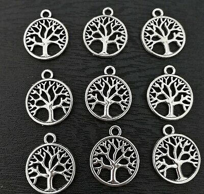 20 Tree Of Life Charms -  Metal Alloy Antique Silver Colour