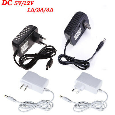 DC 5V 12V 1/2/3A AC Adapter Charger Power Supply for LED Strip Light