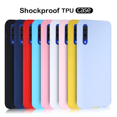For Samsung Galaxy A70 A50 A40 A20E Slim Silicone Frosted Soft Back Case Cover