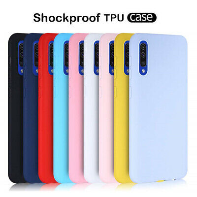 For Samsung Galaxy A70 A50 A40 Slim TPU Silicone Frosted Soft Back Case Cover
